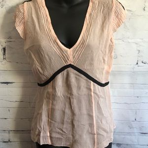 BCBGMAXAZRIA 100% Silk Top sz 6